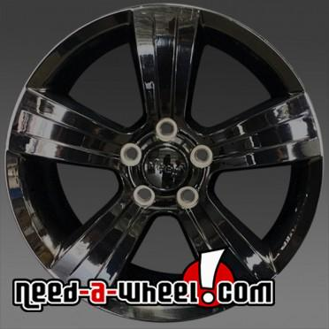 17x6 5 jeep compass wheels oem 2011 2015 black rims 2380. Black Bedroom Furniture Sets. Home Design Ideas