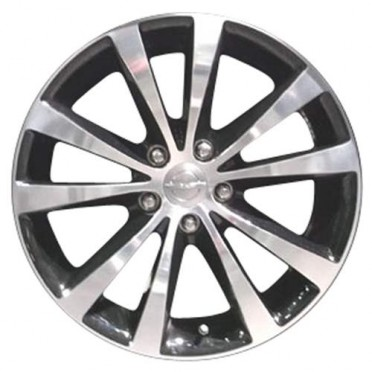 "2011 2013 Chrysler 200 wheels Polished Black 18"" rims 2432"