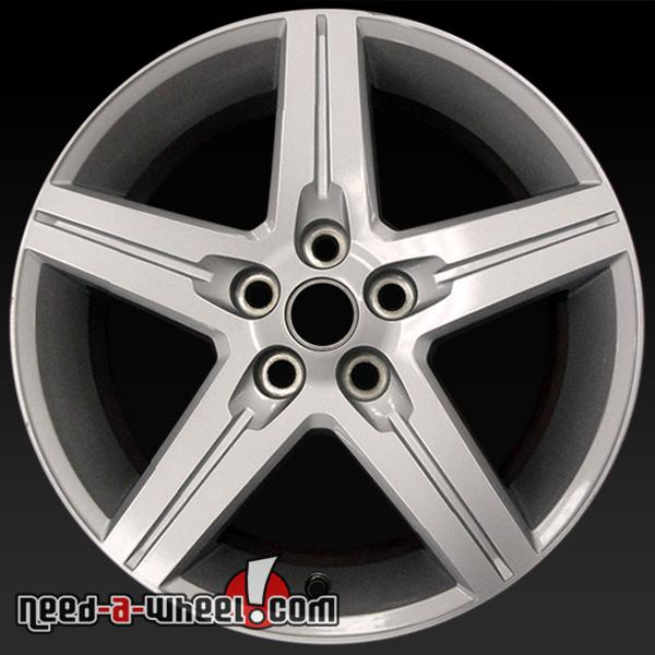 18x7 5 chevy camaro wheels oem 2010 12 silver rims 5439. Black Bedroom Furniture Sets. Home Design Ideas