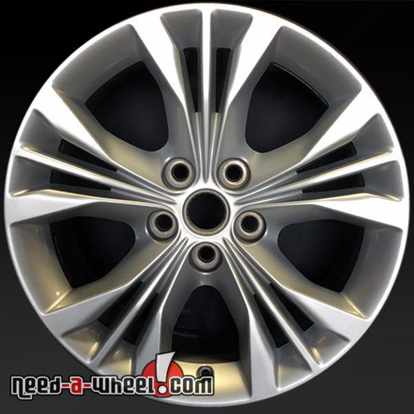 18 chevy impala wheels oem 2014 2015 silver factory rims 5710. Black Bedroom Furniture Sets. Home Design Ideas