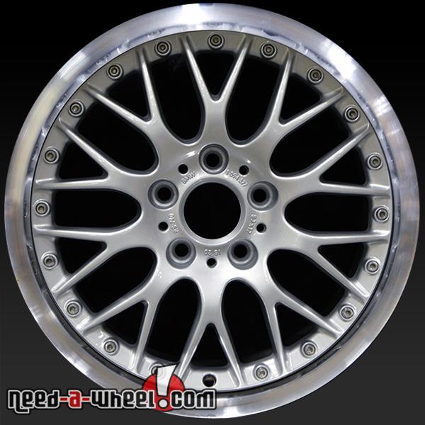 17x8 BMW 525i 530i 540i OEM Wheel 01 02 03 2-Piece Silver