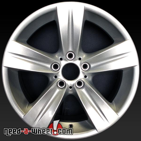 18 bmw 3 series wheels oem 06 13 front silver rims 59617. Black Bedroom Furniture Sets. Home Design Ideas