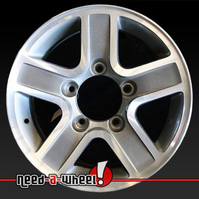 "15"" geo tracker wheels oem 2002 2004 machined rims 60182"