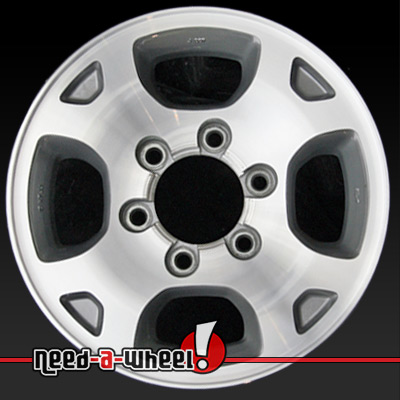 2000 2001 nissan xterra wheels machined charcoal rims 62380. Black Bedroom Furniture Sets. Home Design Ideas