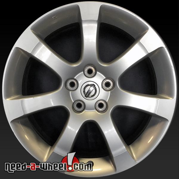 18 nissan maxima oem wheels 2007 2008 silver factory stock rims 62475. Black Bedroom Furniture Sets. Home Design Ideas