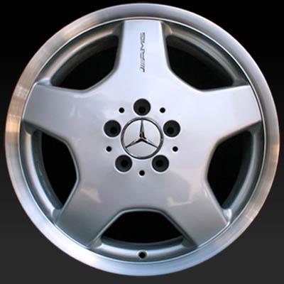 18 mercedes s500 wheels oem 2000 2002 silver rims 65206. Black Bedroom Furniture Sets. Home Design Ideas