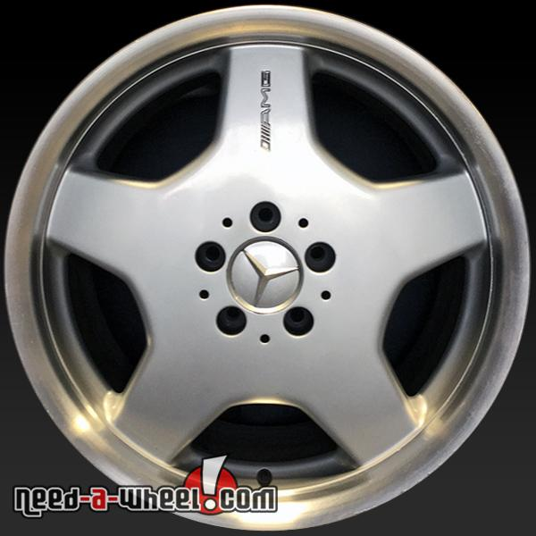 18 mercedes benz wheels oem 02 04 rear amg silver rims 65233 for Mercedes benz amg rims for sale