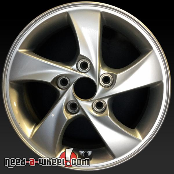 15 hyundai elantra wheels oem 2014 2015 silver rims 70858. Black Bedroom Furniture Sets. Home Design Ideas