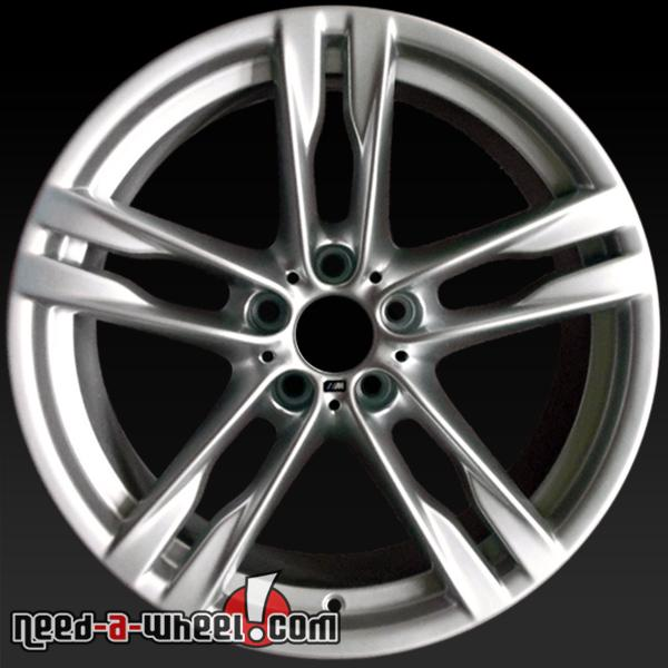 "20"" BMW 6 Series Wheels Oem 12-14 Front Silver Rims 71521"
