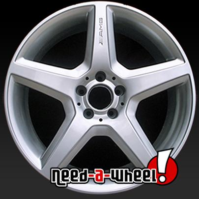 20 mercedes wheels 2008 2013 silver oem rims 85061 for Mercedes benz s550 rims for sale