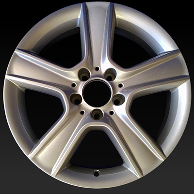 17 mercedes c class wheels 2010 2011 silver oem rims 85100 for Mercedes benz c300 rims