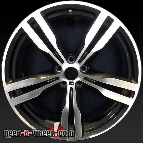 20x8 5 bmw 740i oem wheels 2016 machined rims 86281. Black Bedroom Furniture Sets. Home Design Ideas