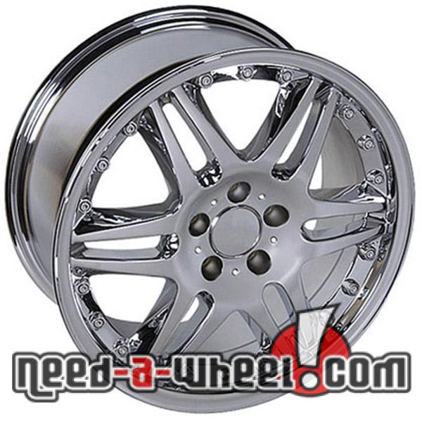 18 mercedes slk350 replacement rims 05 11 chrome 4749921 for Mercedes benz replacement wheels