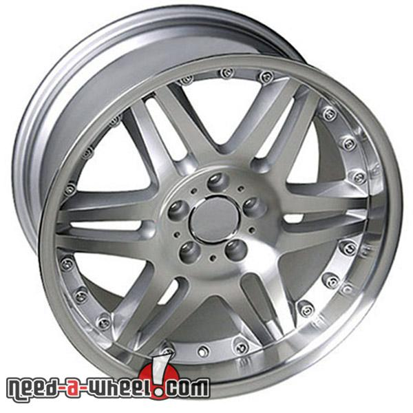 18 mercedes slk350 replacement rims 05 11 silver 4749932 for Mercedes benz replacement wheels