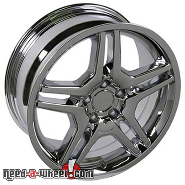 18 mercedes cl600 replacement rims 97 06 chrome 4749969 for Mercedes benz replacement wheels