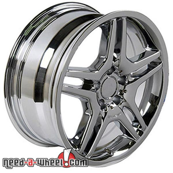 18 mercedes ml320 replacement rims 07 09 chrome 4749969 for Mercedes benz replacement wheels