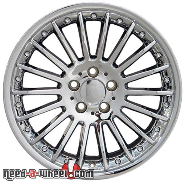 18 mercedes clk500 replacement rims 98 06 chrome 5910364 for Mercedes benz replacement wheels
