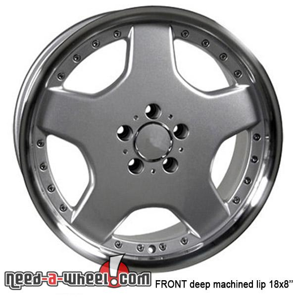 18 mercedes s320 replacement rims 92 06 silver 5910712 for Mercedes benz replacement wheels