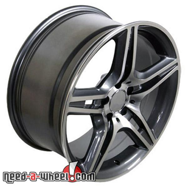 17 mercedes s500 replacement rims 92 06 gunmetal 6710203 for Mercedes benz replacement wheels