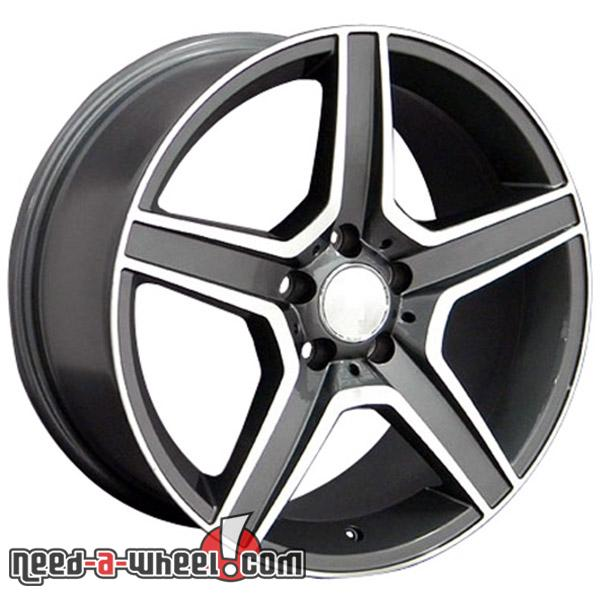 18 mercedes slk350 replacement rims 05 11 gunmetal for Mercedes benz replacement wheels