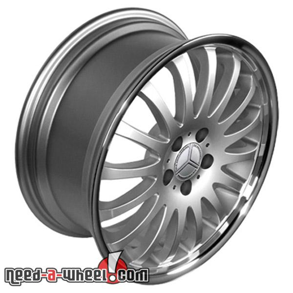 18 mercedes e320 replacement rims 94 09 silver 9451338 for Mercedes benz replacement wheels