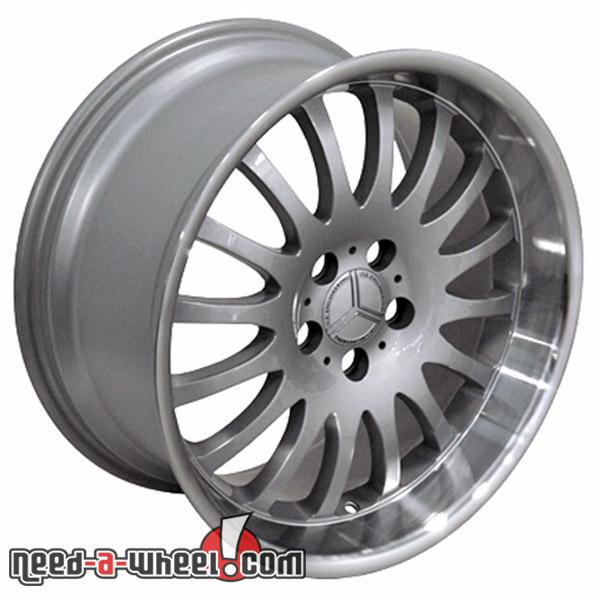 18 mercedes c280 replacement rims 94 07 silver 9451339 for Mercedes benz replacement wheels