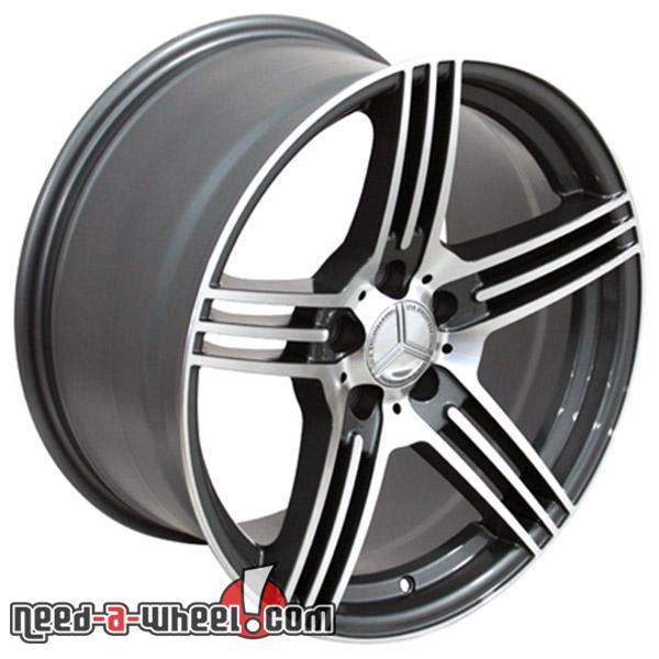 18 mercedes ml350 replacement rims 98 14 gunmetal 9451346 for Mercedes benz replacement wheels