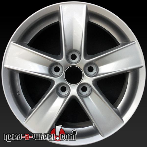 """Silver Mitsubishi Lancer: 16x16.5"""" Mitsubishi Lancer Oem Wheels 2008 Silver Rims 65844"""