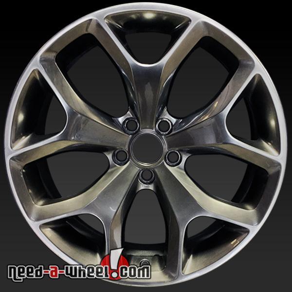 20x8 dodge challenger wheels oem 2015 hyper gray rims 2523. Black Bedroom Furniture Sets. Home Design Ideas