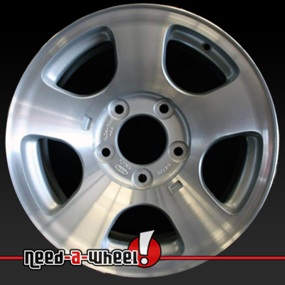 1999 2000 Ford F150 Wheels Machined Silver Stock Rims 3347