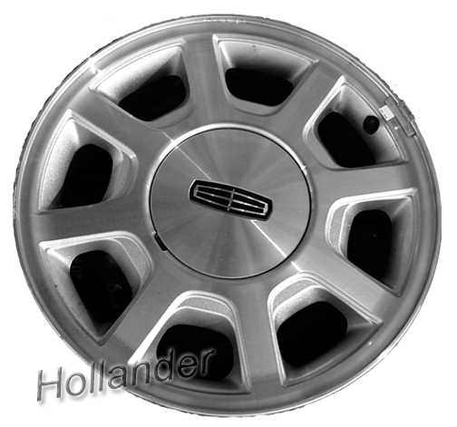 2000 2002 lincoln town car wheels machined sparkle silver 16 rims 3441. Black Bedroom Furniture Sets. Home Design Ideas