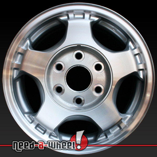 16 gmc chevy wheels for sale 1999 08 machined rims 5073. Black Bedroom Furniture Sets. Home Design Ideas