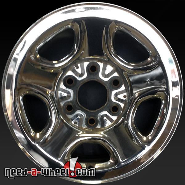 16x6 5 Chevy Silverado Wheels Oem 1999 2005 Chrome Rims 5129