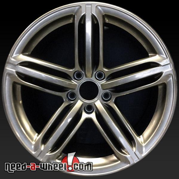 """21x10"""" Audi Q7 Wheels Oem 2010-2016 Silver Stock Rims 58886"""