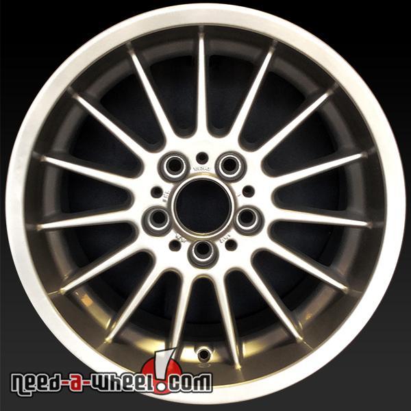"""17x8"""" BMW 540i Wheels Oem 1997-2003 Silver Rims 59275"""