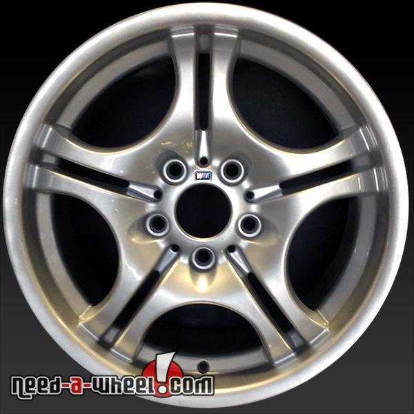 17 bmw 3 series wheels oem 2001 2006 silver rims 59345. Black Bedroom Furniture Sets. Home Design Ideas