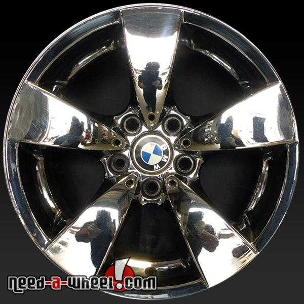 17 bmw 5 series oem wheels 2004 10 chrome factory stock. Black Bedroom Furniture Sets. Home Design Ideas