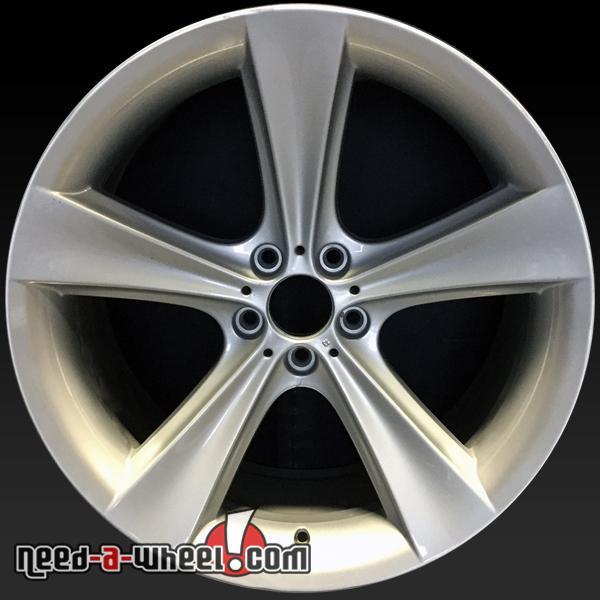 21 bmw 7 series wheels oem 2002 2005 rear silver rims 59520. Black Bedroom Furniture Sets. Home Design Ideas