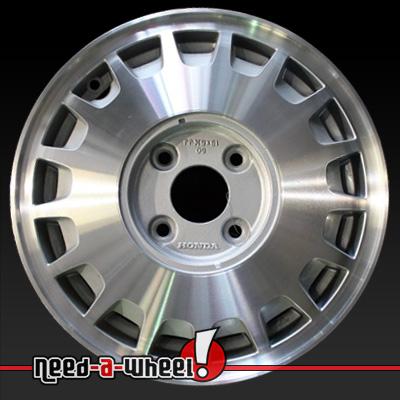 1990 1991 honda accord wheels machined silver rims 63711 for Honda crv lug pattern