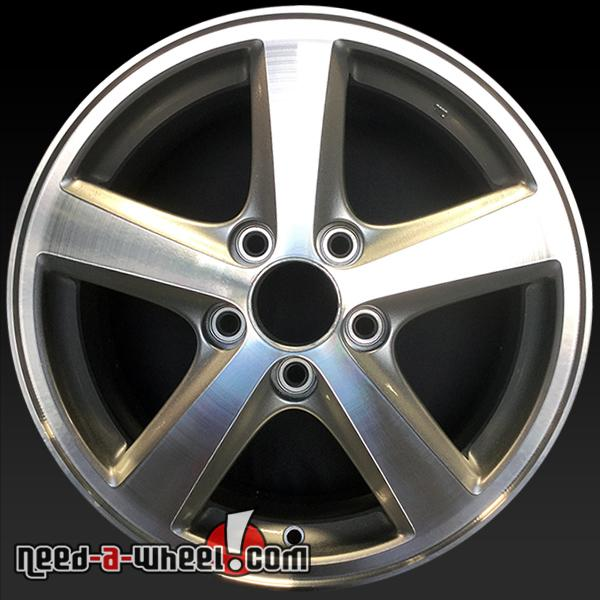 16 honda accord wheels oem 2003 05 machined rims 63857. Black Bedroom Furniture Sets. Home Design Ideas