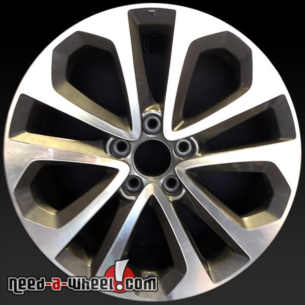 18 honda accord wheels oem 2013 15 machined rims 64048. Black Bedroom Furniture Sets. Home Design Ideas