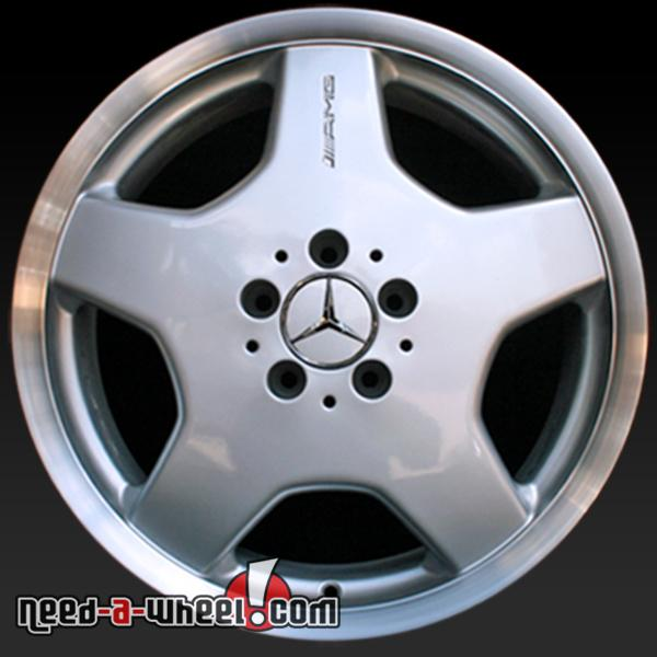 18x9 5 Mercedes S55 Wheels Oem 01 02 Rear Amg Silver Rims 65207