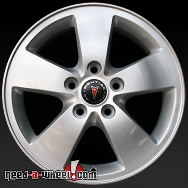 16 pontiac grand prix wheels oem 05 08 silver factory rims 6587. Black Bedroom Furniture Sets. Home Design Ideas