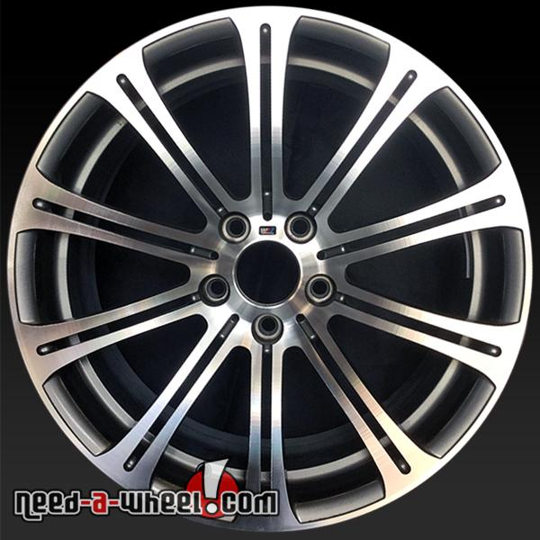 "19"" BMW M3 Wheels Oem 2008-13 Front Polished Rims 71234"