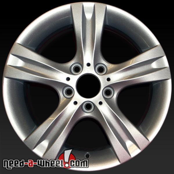 17x7 5 bmw 1 series oem wheels 2008 13 silver factory rims 71245. Black Bedroom Furniture Sets. Home Design Ideas