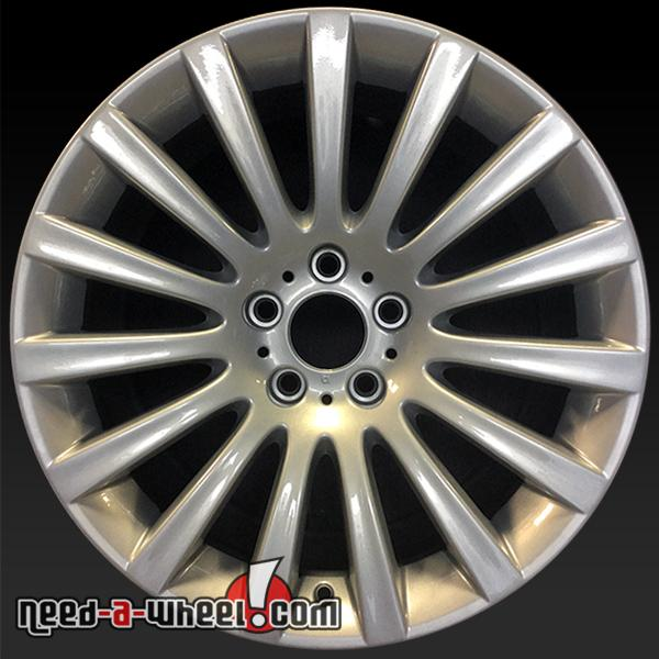 19x95 BMW 7 Series wheels oem 0914 Rear silver rims 71337