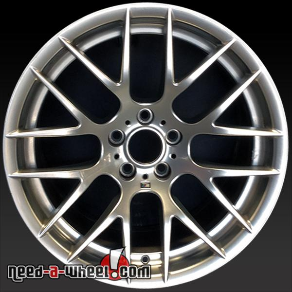 "19x9"" BMW M3 Wheels Oem 2011-2013 Silver Rims 71438"