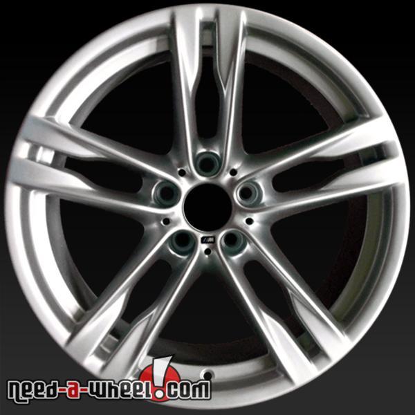 20x9 BMW 6 Series Wheels Oem 12-14 Rear Silver Rims 71524