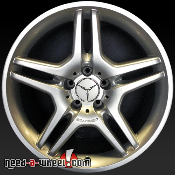 Amg Wheels 18 >> 18 Mercedes Sl Amg Wheels Oem 08 Hypersilver Front Stock Rims 85032