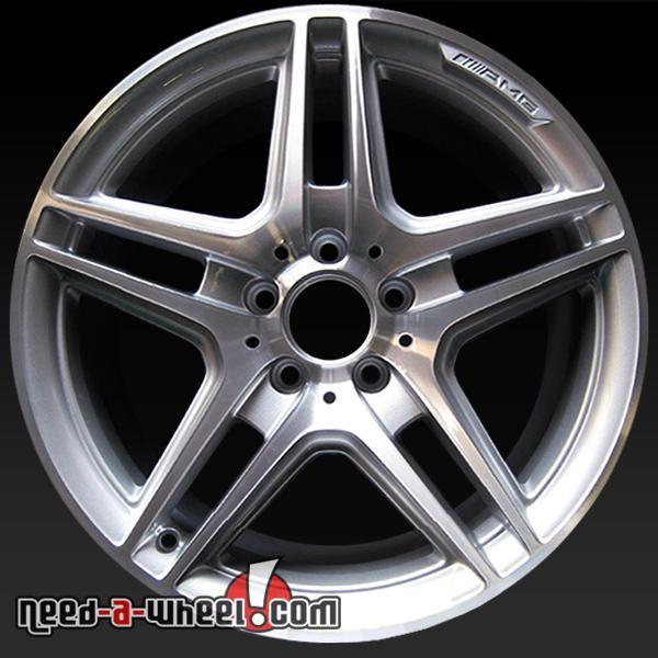 18 mercedes e class wheels oem 11 13 front machined rims for Mercedes benz factory rims